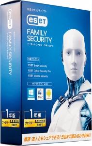 ESET『ESET ファミリー セキュリティ 1年版』