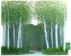 音付き立体カード 林と小川