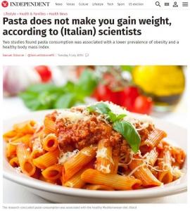 """やはり""""家庭料理派""""は健康だった!しかもパスタはダイエットの""""敵""""ではなかった!?"""
