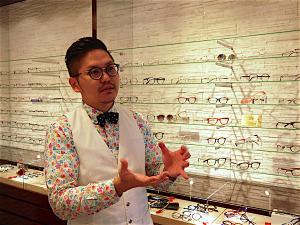 ドイツマイスター眼鏡院を経営する中西広樹さん