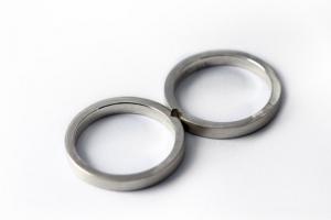 Couple heart ring set