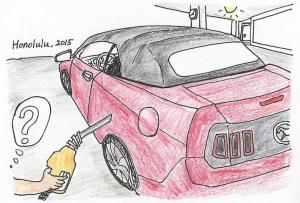ハワイの車を給油する時は?