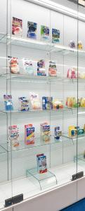 小林製薬の歩みや歴代商品を紹介する展示室