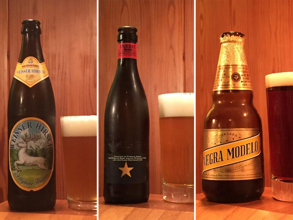 あなたの好みは?ドイツ、スペイン、メキシコ、世界のビール3種飲み比べ