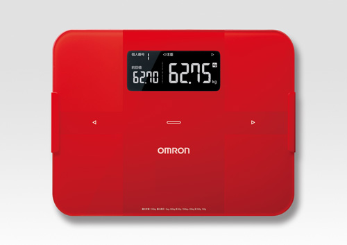 17の健康管理アプリとデータの連携が可能なオムロンの体組成計『HBF-255T』