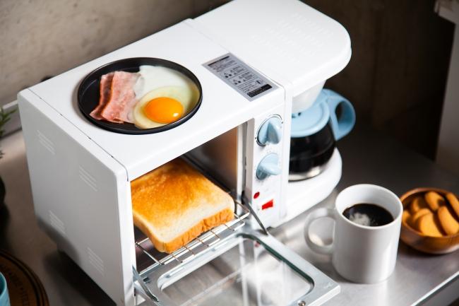 これ1台で朝食セットが完成!ヒロ・コーポレーションの『3WAYモーニングセットメーカー HWK-1107』