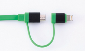 チーロ『cheero 2in1 Retractable USB Cable with Lightning & micro USB (70cm)』