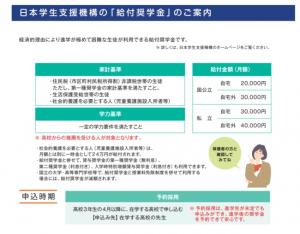 支援 給付 奨学 金 日本 機構 学生