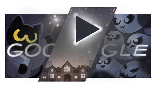 人気 の google doodle ゲーム ハロウィン