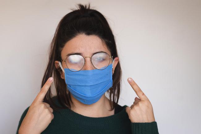 グッズ 100 メガネ 均 曇ら ない マスク